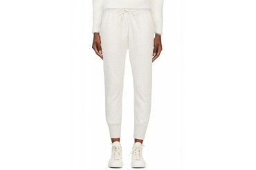 Sacai Luck Ecru Cotton Lounge Pants