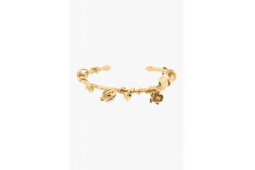 Aurlie Bidermann Gold Rose And Feather Bangle