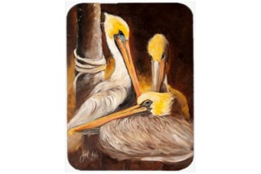 Brown Pelicans Glass Cutting Board Large