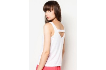 New Look Petite White Flecked Strap Back Vest