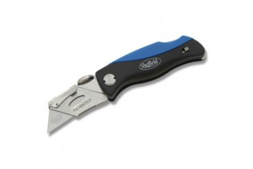 Sheffield Utility Knife with Blue and Black Composition Handle