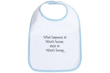What happen's at Mimi's.... II Baby Bib by CafePress