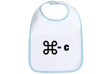 commandC.png Funny Bib by CafePress