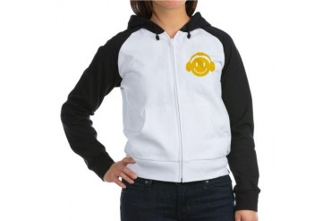 HappyMusic Music Women's Raglan Hoodie by CafePress