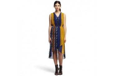 Geraldine Patterned Chiffon Dress