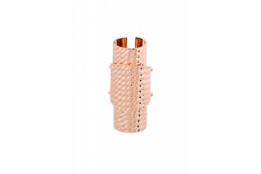 Maison Martin Margiela Rose Gold Tri tiered Hinged Ring