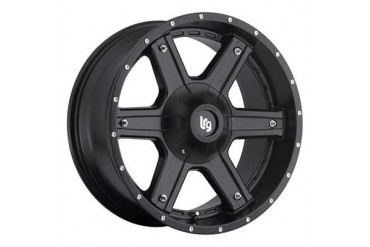 Lrg Rims LRG101, 17x9 with 6 on 5.5 and 6 on 135 Bolt Pattern - Matte Black 10179039706N LRG Rims