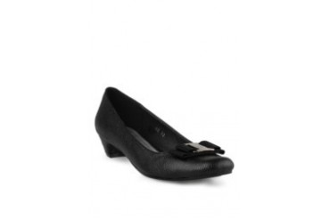 prima classe Prima Classe Textured Ribbon Pumps Black