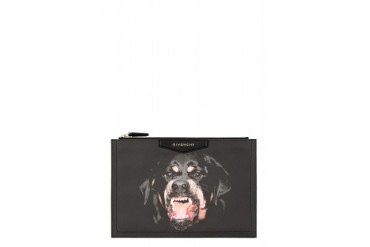 Givenchy Black Rottweiler Antigona Medium Zip Pouch