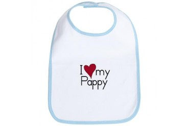 I Love my Pappy Baby / kids / family Bib by CafePress
