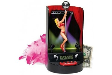 Pole Dancer Stripper Alarm Clock With Flashing Lights & Music