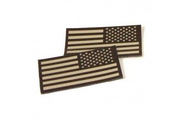 U.S. Flag Ir Patches - Tan U.S. Flag Ir Patch Left Sleeve