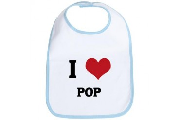 I Love Pop Music Bib by CafePress