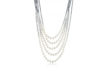 Multi-Strand Long Bead Necklace