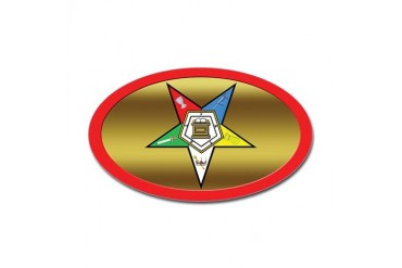 OES Oval Star Oval Sticker Freemasonry Sticker Oval by CafePress