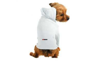 quot;I Love Bushquot; Republican Dog Hoodie by CafePress