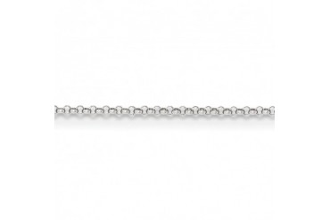 1.55mm 14K White Gold Solid Rolo Pendant Chain