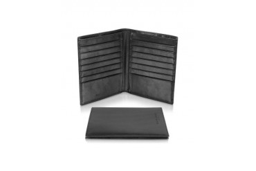 Classica Collection - Black Calfskin Coat Card Holder Wallet