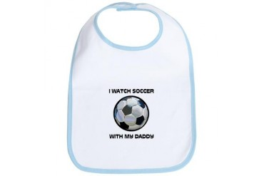 Watch Soccer With Daddy Bib
