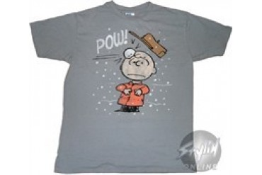 Peanuts Charlie Brown Snowball Hit Sheer T-Shirt by JUNK FOOD