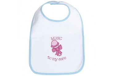 Music To My Ears Baby Bib by CafePress