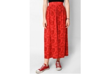 Heath Full Print Long Knit Skirt