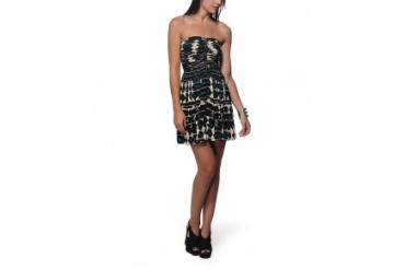 Plenty by Tracy Reese 'Sushi' Strapless Dress Black Multi, M