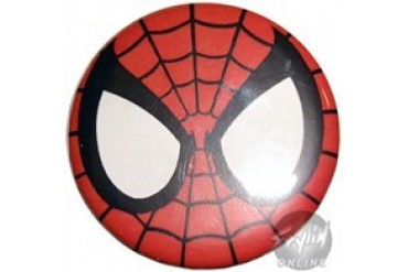 Marvel Comics Spiderman Face Button