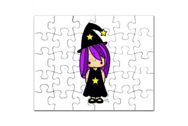 Sunkissed Witch Apparel and Products Cute Puzzle by CafePress