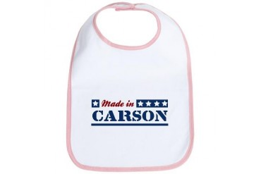 Made in Carson California Bib by CafePress