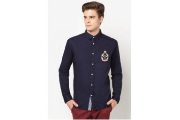 Long Sleeve Shirt With Badge