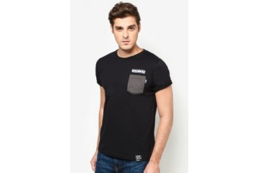 NEVER GROW OLD Simple Pocket Tee