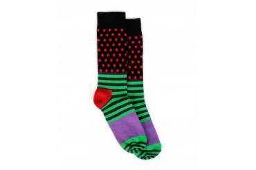 Happy Socks Stripes and Dots Socks Purple