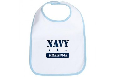 Navy Grandma Navy Bib by CafePress