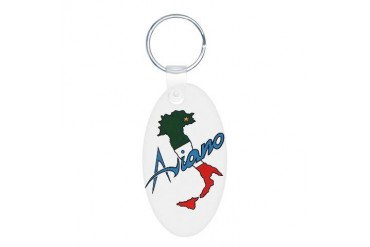Boot of Italy Aviano Art Aluminum Oval Keychain by CafePress
