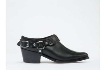 To Be Announced Harlow in Black Leather size 6.0