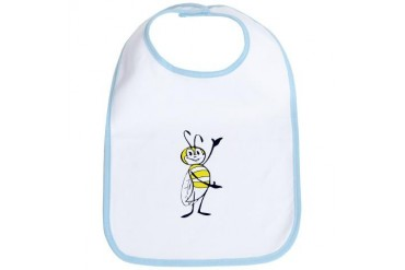 Retro Bumble Bee Funny Bib by CafePress