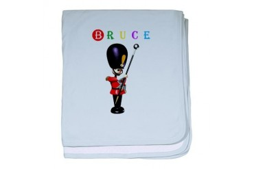 Bruce Marching band baby blanket by CafePress
