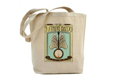 Heavenly Banjo Music Tote Bag by CafePress