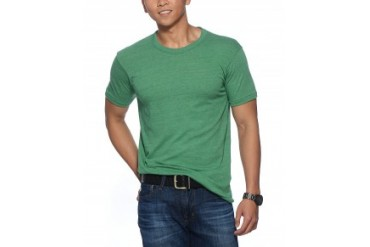 Alternative Apparel Short Sleeve True Eco-Heather T-Shirt Green, L