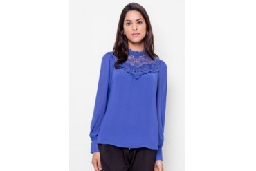Carla Lace Turtleneck Blouse