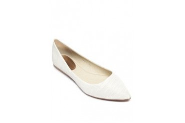 Cream Pointed Ballet Flats