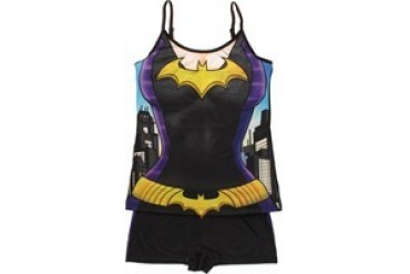 DC Comics Batman Batgirl Suit Cami and Shorts Junior Pajama Set
