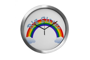 Big Sister Big sister Modern Wall Clock by CafePress