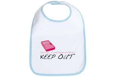Keep Out Girl Bib by CafePress