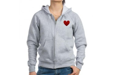 i-love-you.png Love Women's Zip Hoodie by CafePress