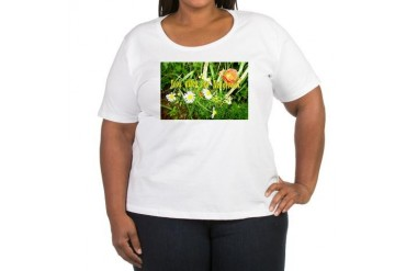 look after our hedgerows Women's Plus Size Scoop N Nature Women's Plus Size Scoop Neck T-Shirt by CafePress