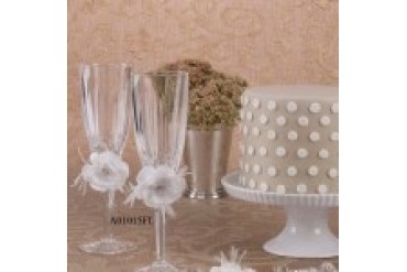 Ivy Lane Design Crystal Toasting Flutes - Style A01015FL