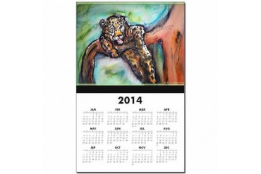 Leopard Wildlife art Art Calendar Print by CafePress