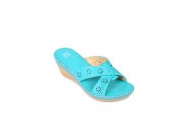 Blue Heel Slides